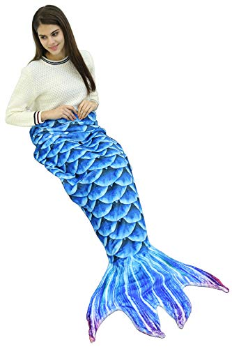 Mermaid Tail Blanket for Kids Adults Girls Women