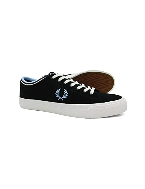 Fred Perry - Zapatos Hombre Kendrick Tipped Cuff Canvas Negro Fred Perry: Amazon.es: Zapatos y complementos