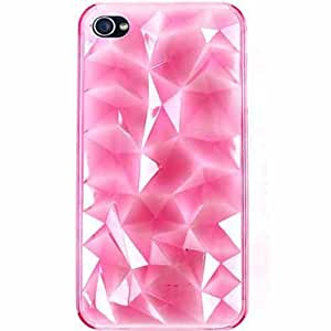 Cell Armor Hybrid Novelty Case for iPhone 4/4S - Retail Packaging - One-Piece Transparent Pink by runtopwell