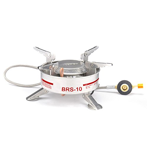 Amazon.com : GigaMax(TM) Outdoor Portable Camping Picnic Gas Stove Split-Type Stainless Steel Butane Cooker Burner Strong Power : Sports & Outdoors