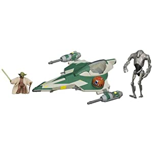 Stars Wars Yoda's Jedi Attack Fighter with Yoda & Super Battle Droid