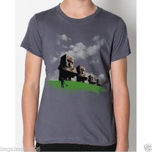 Minecraft Easter Island Statues Boy's Youth T-shirt Tee Tshirt Philcos