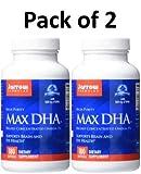 Jarrow Formulas Max DHA , Supports Brain and Eye Health, 180 Softgels (Pack of 2)