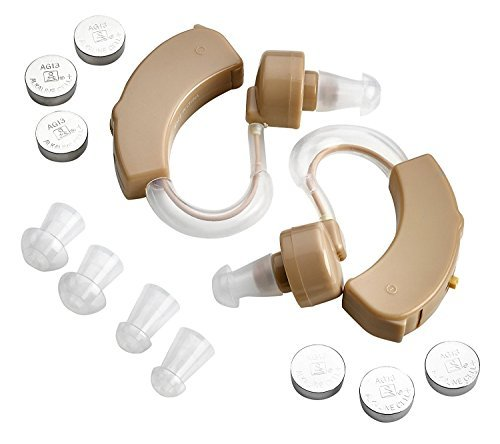 MEDca Behind the Ear Sound Amplifier - BTE Hearing Amplifier and Digital Sound Enhancer with Noise Reducing Feature, a Smaller & Discreet Digital Ear Amplification Device/(Pair) by