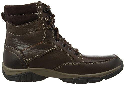 Clarks Cross Dash - Zapatillas de cuero para niño marrón - Braun (Brown WLined Lea)
