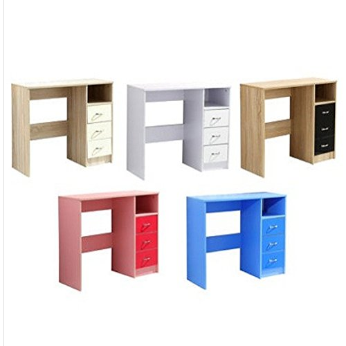 3 cajones Study escritorio/tocador. Blanco, Azul o Rosa/ropa de ...