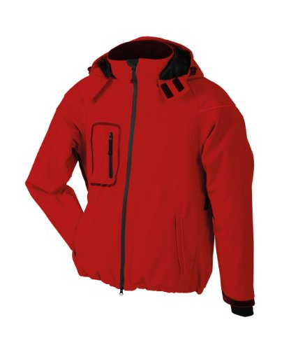 James & Nicholson Herren Softshelljacke Winter XL,Rot