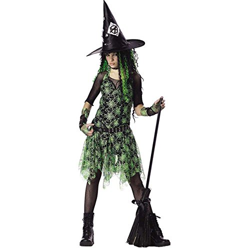 Punk Witch Costumes (Girl's Teen Punk Rocker Witch Costume (Teen 3-5))