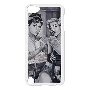 Audrey Hepburn Pattern Popular Case for Ipod Touch 5, Hot Sale Audrey Hepburn Pattern Case