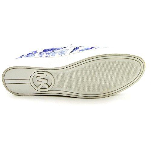 Michael Kors Keaton Slip On Sneakers Donna In Tela Tinta Unita Blu Floreale Floreale