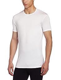 Calvin Klein Men\'s Body Modal Short Sleeve Crew Neck T-Shirt, White, Large
