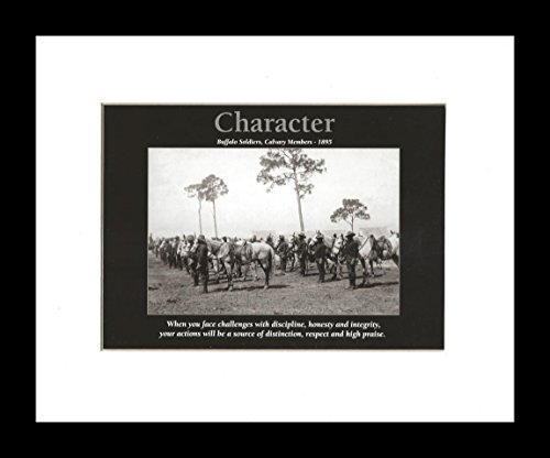 Character: Buffalo Soldiers (Framed African American Motivational Poster), 8x10 inches ()