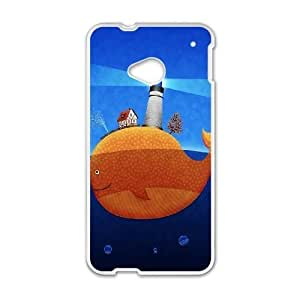 HTC One M7 Cell Phone Case White Lighthouse at the whale back SLI_752491