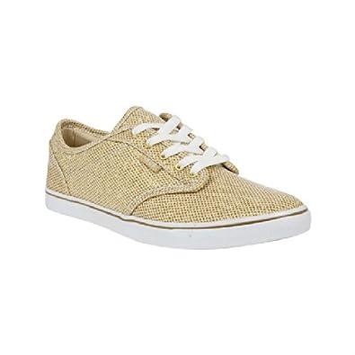 gold glitter slip on vans