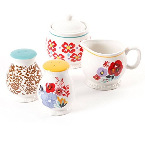 Creamer Salt (The Pioneer Woman Flea Market Decorated Sugar and Creamer with Salt and Pepper Shakers (1))