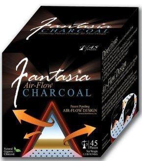 Fantasia Air-Flow Hookah Charcoal Natural Hookah Charcoal 45 PC by TEXAS HOOKAH (45 Hookah)