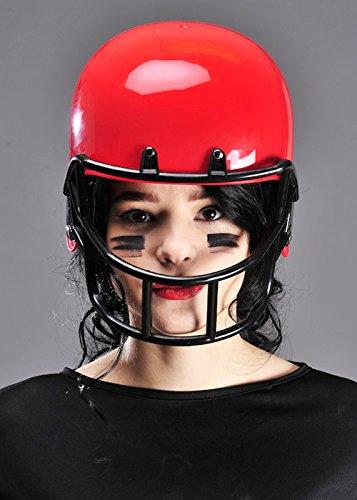 Casco de fútbol americano rojo disfraces adulto: Amazon.es ...