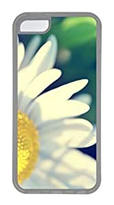 iPhone 5C Case, Customized Protective Soft Clear Case for iphone 5C - Daisy Cover