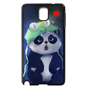 Samsung Galaxy Note 3 Case,Cute Panda Cartoon And Red Heart High Definition Wonderful Design Cover With Hign Quality Hard Plastic Protection Case