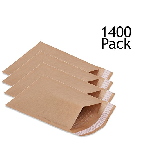 SVI Sales 7.25'' x 12'' Padded Self Seal Bubble Lined Brown Mailers Ship with UPS, USPS, FedEx and More, Pack of Brown Colored Brown Bubble Mailers by SVI Sales