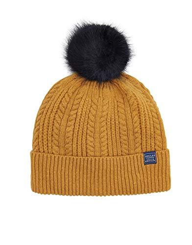 Joules Bobble Hat Womens Beanie Yellow