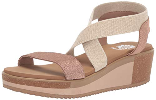 Yellow Box Women's Janalee Sandal, Rosegold, 10 M US