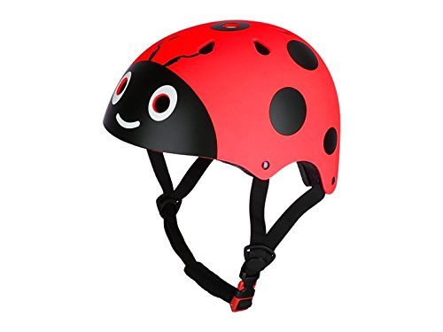 Yunqir Children Ladybug Helmet Cute Street Bike Helmet Cartoon Riding Helmet Skate Helmet(Red)