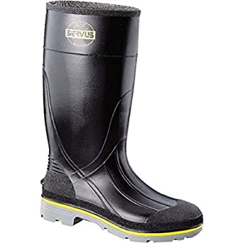 "75109-10 Servus XTP 15"" PVC Safety Hi Boots with Dual Compound Outsole and Steel Toe Size 10 Black"