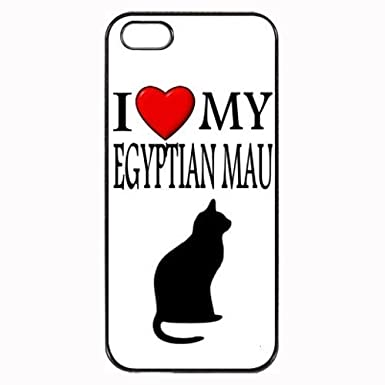 Custom Egyptian Mau I Love My Cat Symbol Silohuette iPhone 5 5S Case