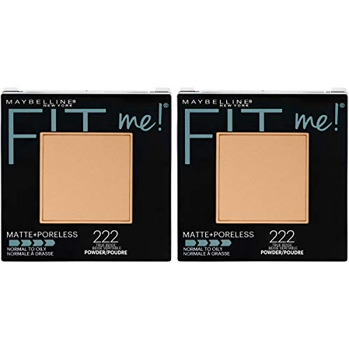 Maybelline New York Fit Me Matte + Poreless Pressed Face Powder Makeup, True Beige, 0.6 Ounce