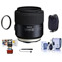 Tamron SP 85mm F/1.8 Di VC USD Lens for Sony - Bundle With 67mm UV Filter, Cleaning Kit, Lens Pouch, Capleash II, Mac Software Package