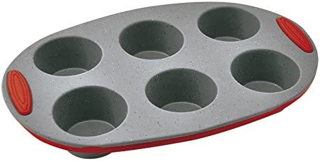 Jata Hogar MC62 Molde 6 cavidades para Muffins y Magdalenas ...