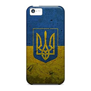 Apple Iphone 5c HET2016vuUS Support Personal Customs Realistic Grunge Ukraine Presidential Flag Series Protective Cell-phone Hard Cover -WayneSnook