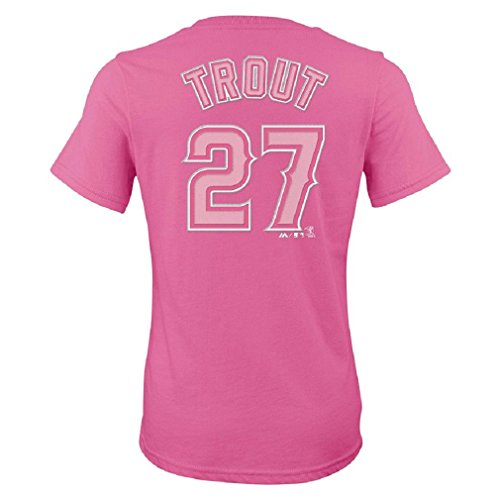 Mike Trout Los Angeles Angels of Anaheim #27 MLB Girls 7-16 Player T-Shirt (Girls Large 14) (Angels Baseball Players)