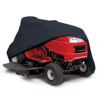"""Outdoors Lawn Mower Cover -Tractor Cover Fits Decks up to 54"""" Storage Cover Heavy Duty 210D Polyester Oxford, UV Protection Universal Fit with Drawstring & Cover Storage Bag"""