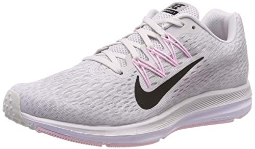 Nike Women's Air Zoom Winflo 5 Running Shoes (6, Grey/Pink)