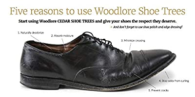 Woodlore Shoe Trees for Men 2-Pack Men's Combination Aromatic Red Cedar Shoe Trees (for Two Pairs of Shoes) Made in The USA