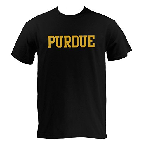 Purdue University T-shirt (Block Purdue Basic T-Shirt - Medium - Black)