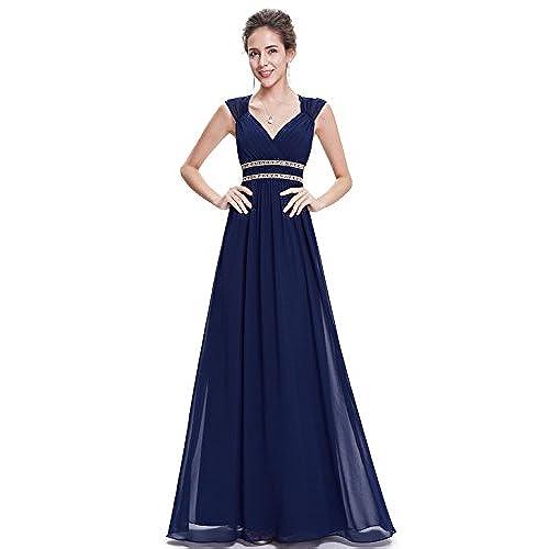 Navy Empire Waist Formal Dress Amazon