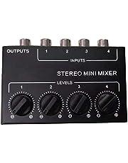 cherrypop Cx400 Stereo Rca 4-kanaals Passieve Mixer Kleine Mixer Mixer Stereo Dispenser voor Live en Studio