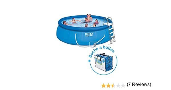 Pack piscina autoportée Easy Set Intex 4,57 x 1,22 m + lona: Amazon.es: Deportes y aire libre
