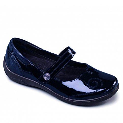 Padders Lyric - Zapatos sin cordones de otra piel para mujer azul marino