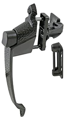 Ultra Hardware 47010 Resilient Strike Storm and Screen Door Push Button Latch, 1 3/4 - Inches, Black Finish