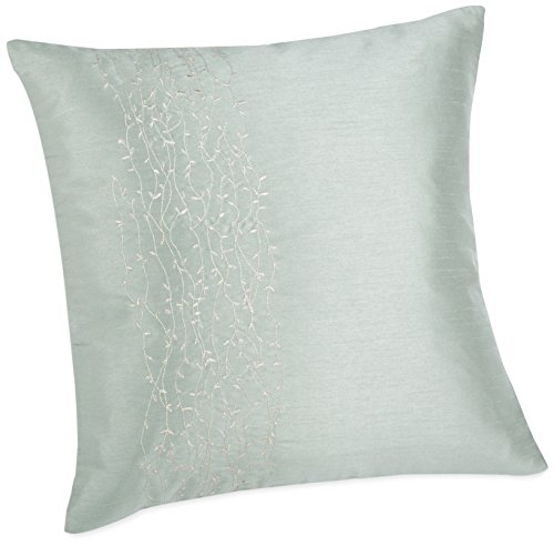 Calvin Klein Home Nightingale Metal Branches Embroidery Pillow, Moss
