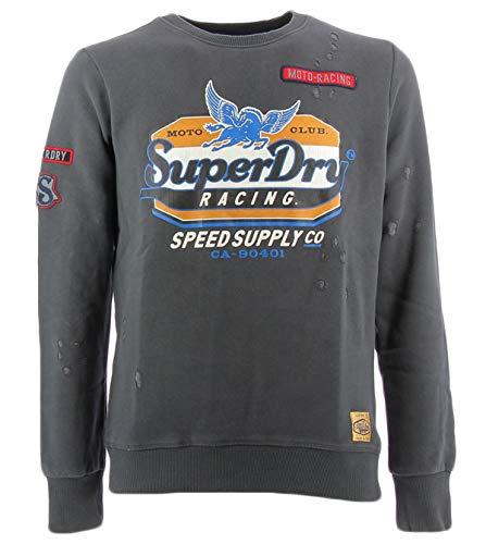Felpa Grigia Rotture Grigia Con Felpa Superdry Superdry SSw0q5