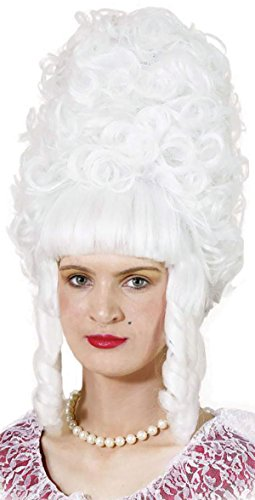 Bristol Novelty BW703 Lady Pompadour Wig, White, One Size]()