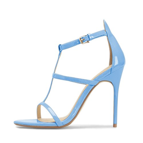 Fsj Donna Moda Sera Ballando Sandali Strappy Open Toe Tacco Alto Scarpe A Spillo Taglia 4-15 Us Light Blue