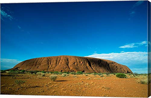 Rock Formation on a Landscape, Ayers Rock, Uluru-Kata Tjuta National Park, Northern Territory, Australia Canvas Art Wall Picture, Gallery Wrap, 30 x 20 inches
