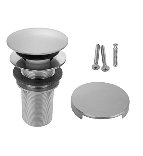 Jaclo 537-75-PEW Toe Control Drain Strainer with Round No Hole Faceplate, 3 , Pewter