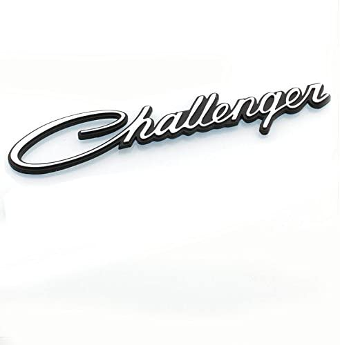 Black Yoaoo-oem 2pcs OEM Original Chrome Challenger Emblem Decal Nameplate for Chrysler 1pair